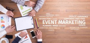 Business Concept: Event Marketing Word Cloud